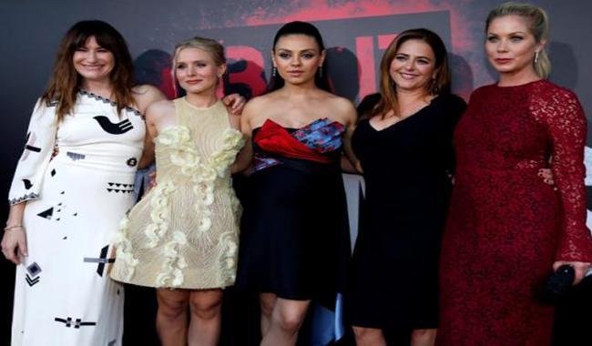 Mila Kunis, Kristen Bell celebrate motherhood at 'Bad Moms' premiere