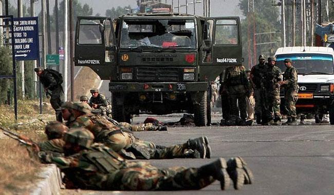 indian army convoy ambushed in held kashmir three dead