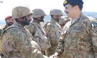 COAS visits troops in Kurram Agency