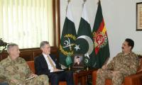 Olson, Gen. Nicholson discuss regional security with Gen. Raheel