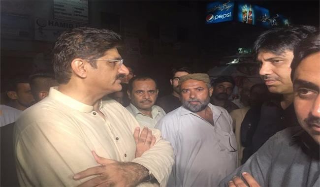 CM Murad late night visits different parts of Karachi
