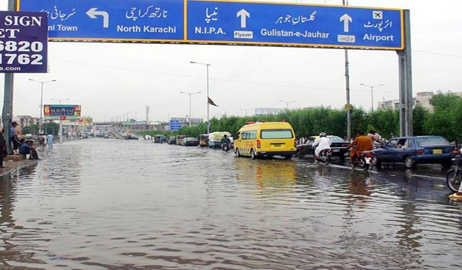 Karachi receives heavy rain with gusty winds