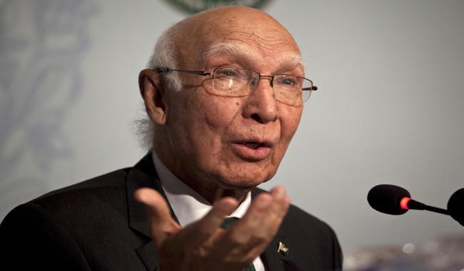 Sartaj rejects impression Pakistan being isolated internationally