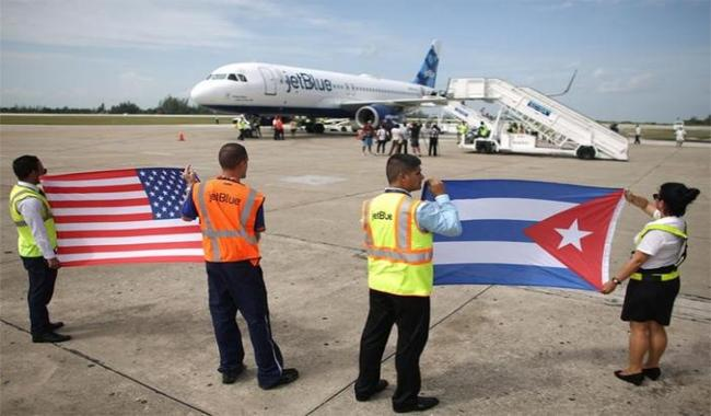 US resumes scheduled passenger flights to Cuba