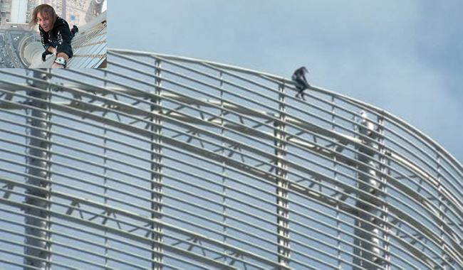 French 'Spiderman' climbs a skyscraper harness-free