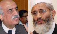 Sirajul Haq, Khursheed Shah exchange views on Panama leaks