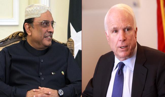 John McCain telephones Zardari, discusses Kashmir issue