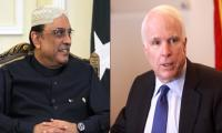 John McCain telephones Zardari, discusses Kashmir issue