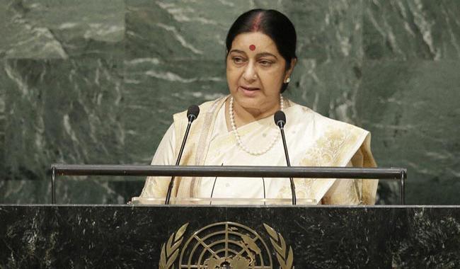 Kashmir is integral part of India: Sushma Swaraj