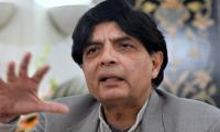 UK Home Secretary phones Nisar