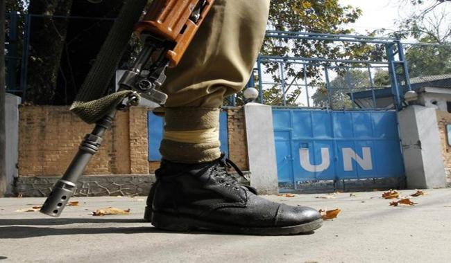 India imposed restriction to halt march toward UN office in Srinagar