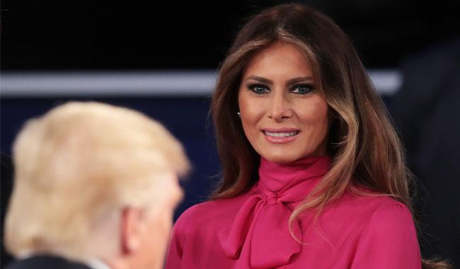 Melania Trump shrugs off husband´s way with women
