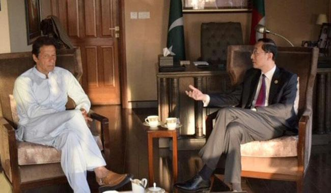 PTI supports govt over CPEC, Imran tells Chinese envoy