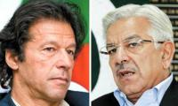 Imran, Khawaja Asif take off gloves in latest verbal spat