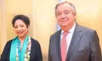 Ambassador Lodhi meets new UN chief, briefs him situation in South Asia