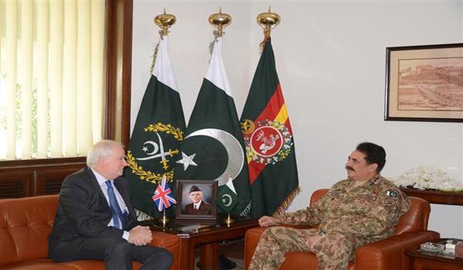 British security advisor meets General Raheel  Sharif