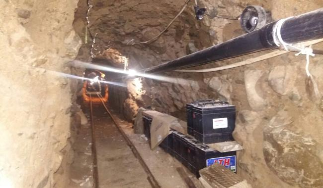 Lengthy drug tunnel found under US-Mexico border