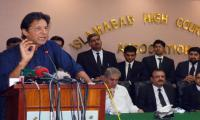 Imran Khan amused by Shahbaz Sharif's response to allegations