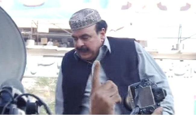 Sheikh Rasheed defies ban, reaches Committee Chowk