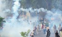 Clash between protesters and police claims life of infant