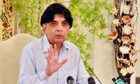 Nisar's departure for London surprises PPP's Saeed Ghani