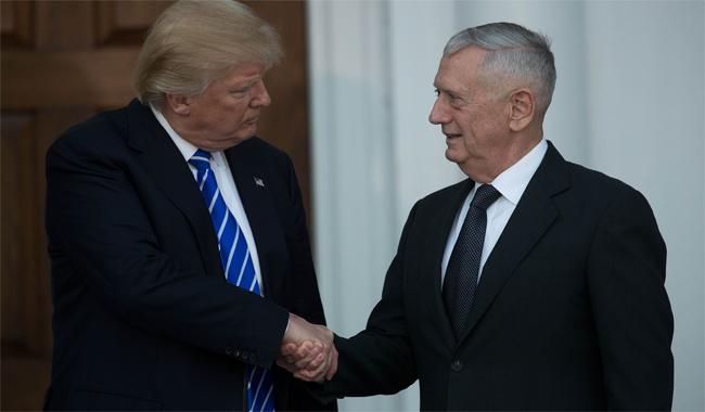 Trump taps retired general Mattis as new Pentagon chief