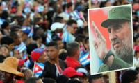 In pictures: Thousands pay tribute as Castro's ashes arrive in Santiago