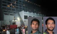 Pakistani cricketers injured in Karachi blaze