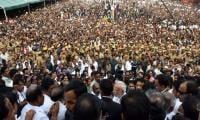 Mass grief as India political star Jayalalithaa buried