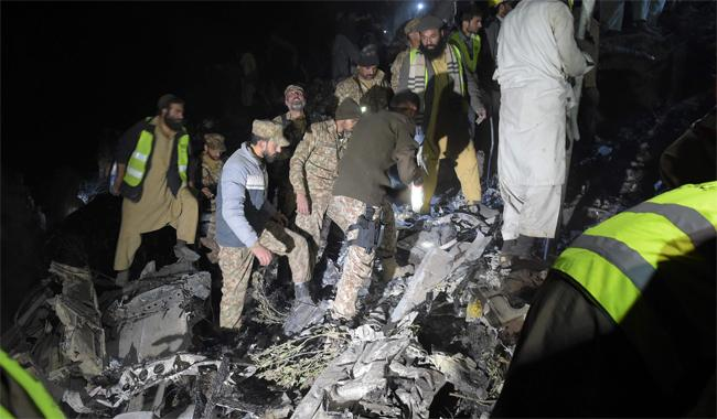 PIA plane crashes near Abbottabad, all 47 people on board killed