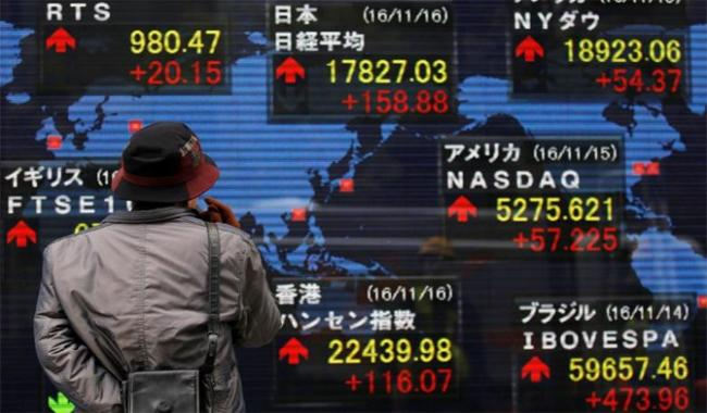Asia shares hit one-month peak, bonds bet on ECB support