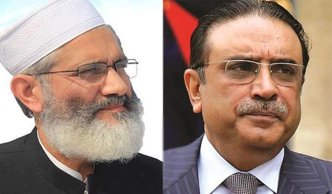 Zardari calls JI Chief, assures to repeal forced conversion bill