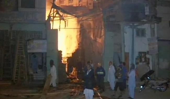 Fire at Karachi's wood warehouse doused