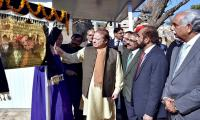 PM Nawaz inaugurates restoration of ancient Hindu temple.