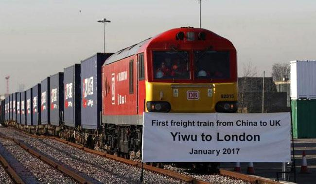 First 'Silk Road' freight train from China arrives in London