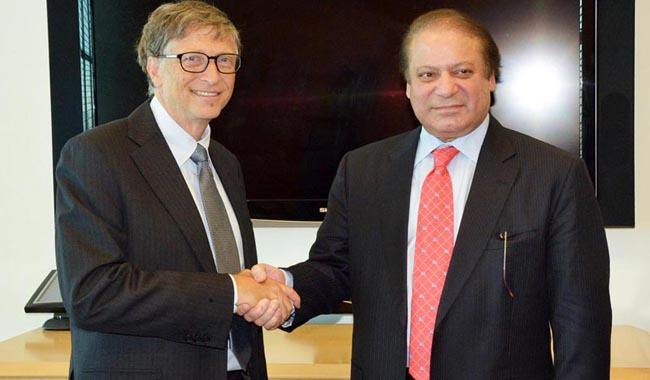 Bill Gates meets PM Nawaz, lauds Pakistan's efforts against polio
