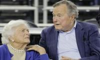 Bush senior in intensive care, wife Barbara also hospitalized