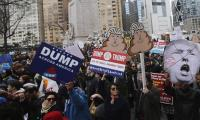 A-listers join anti-Trump protest in hometown New York