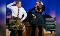 Deepika does the Lungi Dance with a jacket on American talk show