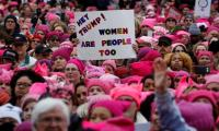 Women's march against Trump swamps Washington streets, subway