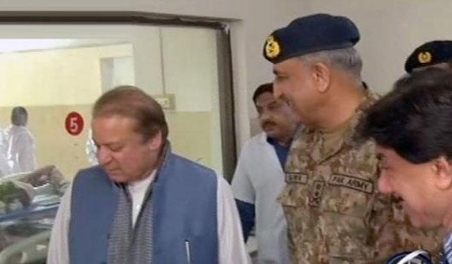 PM, COAS visit Nawabshah to inquire after Sehwan blast victims