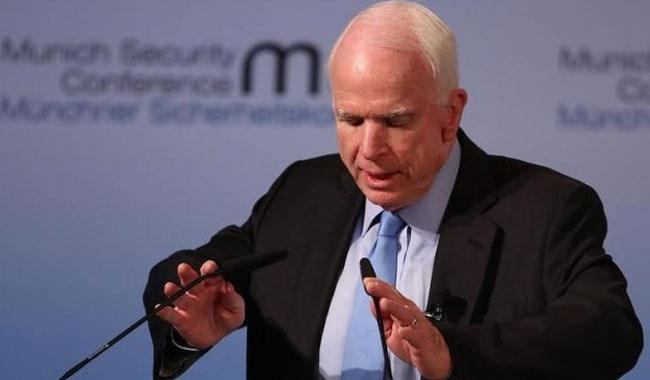 Trump's team in disarray, U.S. Senator McCain tells Europe