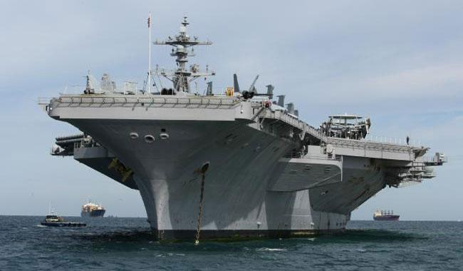 US aircraft carrier strike group patrolling S. China Sea