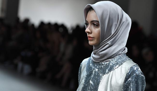 At New York fashion week, hijabs top looks fit for royalty