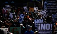Thousands protest in New York against Trump