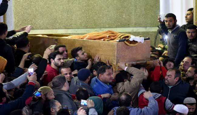 Blind sheikh buried in Egypt after dying in US jail
