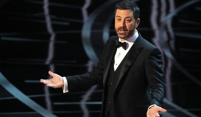 Oscar host Jimmy Kimmel makes fun of Trump