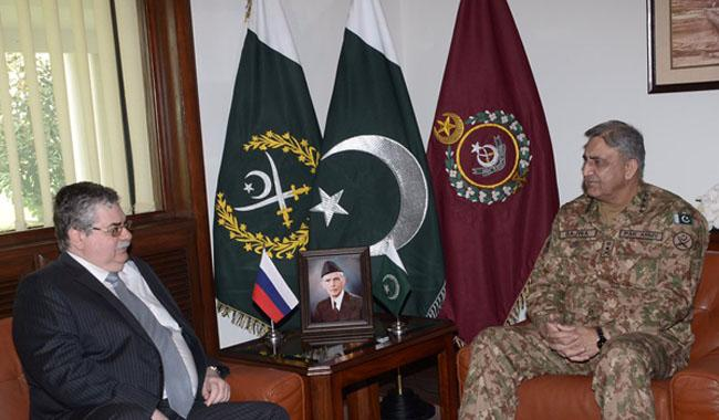 Russian envoy discusses 'regional security' with army chief