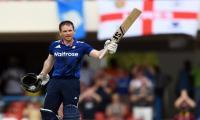 Morgan century leads England to 45-run win