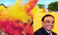 Zardari felicitates Hindus on Holi